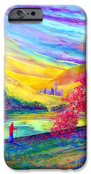 Contemplation iPhone Cases - The Calling iPhone Case by Jane Small