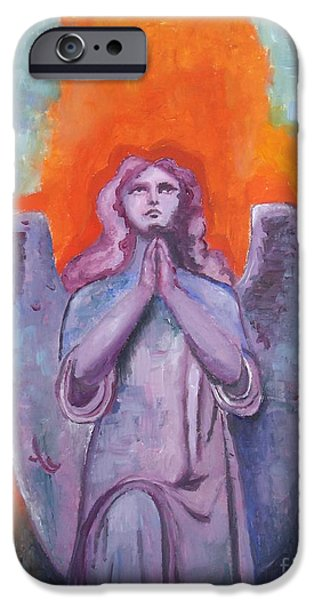 Statue Portrait Mixed Media iPhone Cases - The Calling iPhone Case by Venus