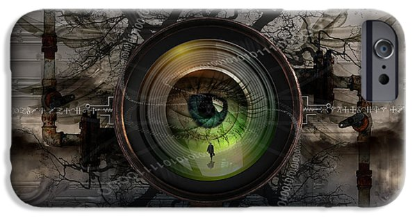 Data Photographs iPhone Cases - The Camera Eye iPhone Case by Keith Kapple