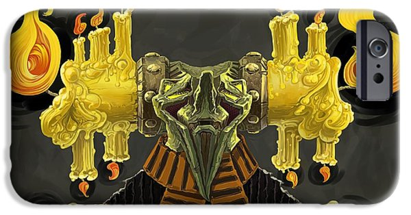 Best Sellers -  - Strange iPhone Cases - The Candle Man iPhone Case by Augustinas Raginskis