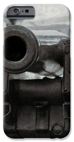 illery Mixed Media iPhone Cases - The Cannon iPhone Case by Ernie Echols