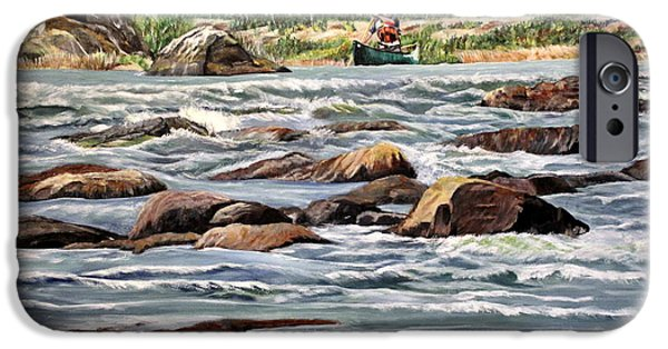 Boat iPhone Cases - The Canoeist iPhone Case by Marilyn  McNish