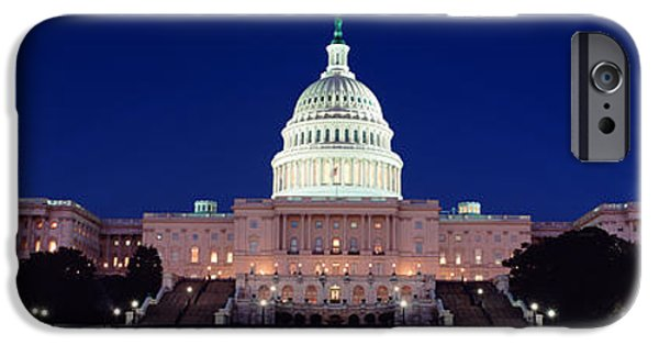 President iPhone Cases - The Capitol At Nighttime iPhone Case by Panoramic Images