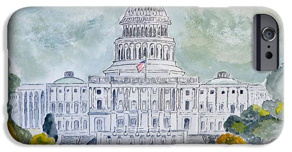 Capitol iPhone Cases - The Capitol Hill iPhone Case by Eva Ason