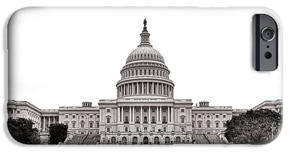 D.c. iPhone Cases - The Capitol iPhone Case by Olivier Le Queinec
