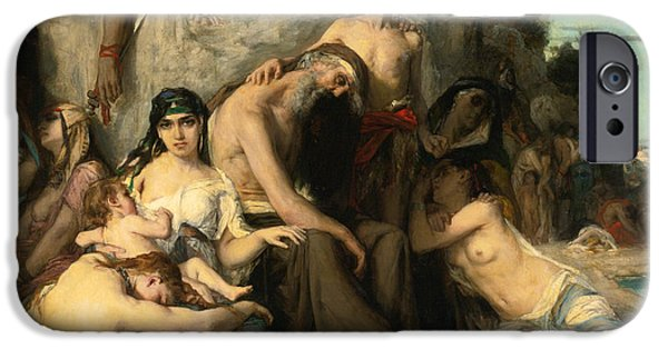 Babylon iPhone Cases - The Captivity of the Jews in Babylon iPhone Case by Leon Francois Comerre