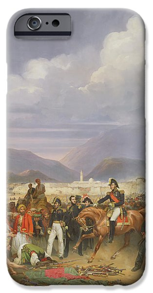 Liberation iPhone Cases - The Capture Of Morea Castle, 30th October 1828, 1836 Oil On Canvas iPhone Case by Jean Charles Langlois