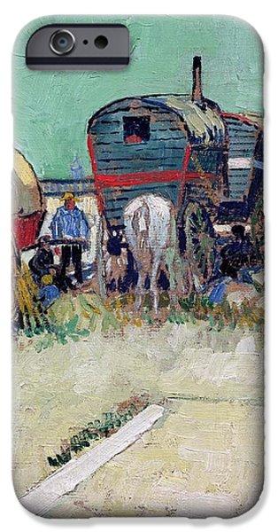 The Caravans   Gypsy Encampment near Arles iPhone Case by Vincent Van Gogh