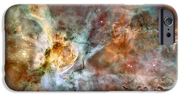 Nebula Photograph iPhone Cases - The Carina Nebula iPhone Case by Eric Glaser