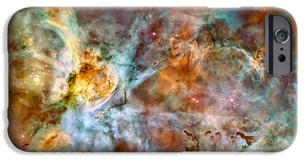 Stellar iPhone Cases - The Carina Nebula - Star Birth In The Extreme iPhone Case by Marco Oliveira