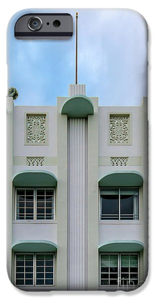 Scarface iPhone Cases - The Carlyle Art Deco Detail South Beach Miami iPhone Case by Ian Monk