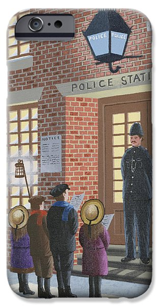 Police iPhone Cases - The Carolers iPhone Case by Peter Szumowski