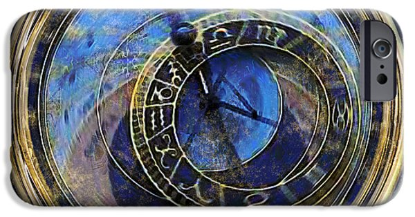Czech Republic Digital Art iPhone Cases - The Carousel of Time iPhone Case by RC DeWinter