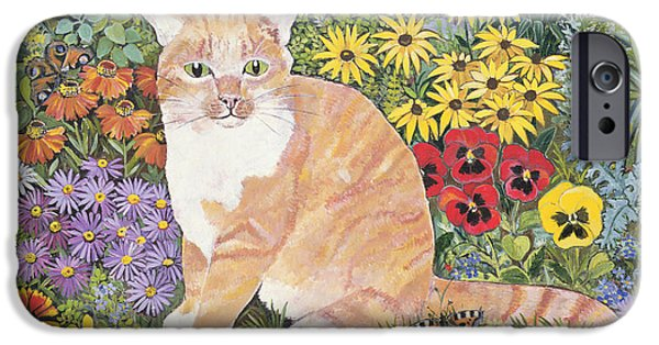 Pansy iPhone Cases - The Carpenters Cat iPhone Case by Hilary Jones