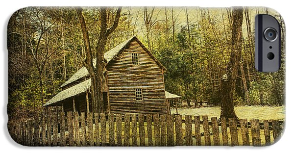Carter House iPhone Cases - The Carter Shields Cabin in Cades Cove in the Smokey Mountains iPhone Case by Randall Nyhof