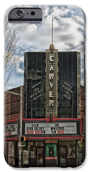 Historical Pictures iPhone Cases - The Carver Theatre in Birmingham Alabama iPhone Case by Mountain Dreams