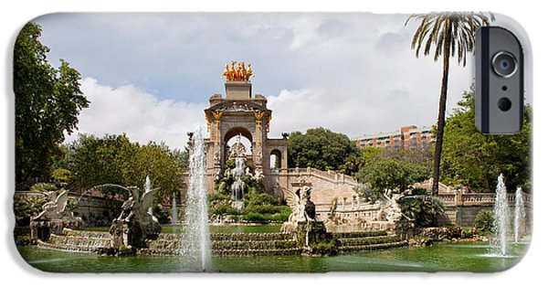 Nature Center Pond iPhone Cases - The Cascada in Ciutadella Park in Barcelona iPhone Case by Artur Bogacki