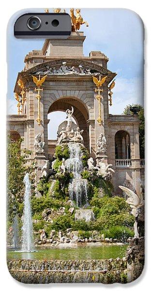The Cascada in Parc de la Ciutadella in Barcelona iPhone Case by Artur Bogacki
