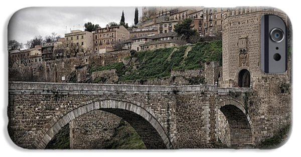River View iPhone Cases - The Castle and the Bridge iPhone Case by Joan Carroll