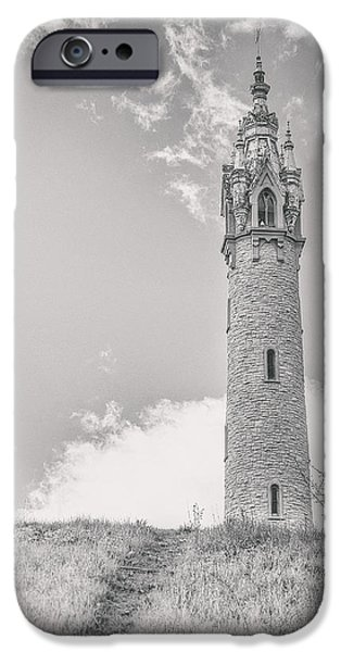 Ruin iPhone Cases - The Castle Tower iPhone Case by Scott Norris