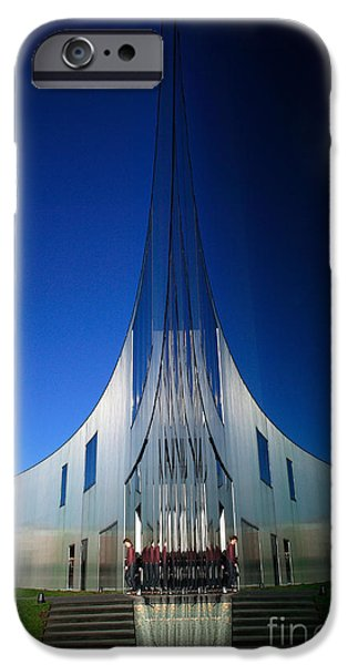 Blue Abstracts iPhone Cases - The Cathedral of Dance iPhone Case by John Gaffen