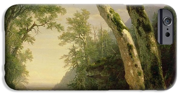 Hudson River iPhone Cases - The Catskills iPhone Case by Asher Brown Durand