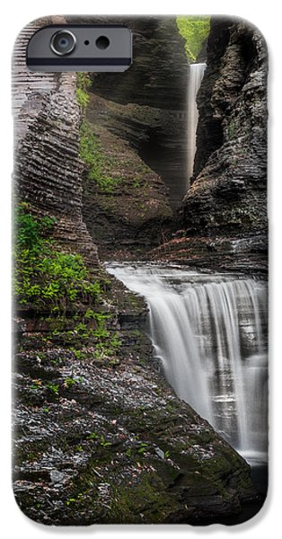 Watkins Glen iPhone Cases - The Cavern iPhone Case by Bill  Wakeley