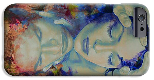 Yin iPhone Cases - The Celestial Consonance iPhone Case by Dorina  Costras