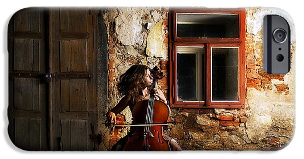 Cabin Window iPhone Cases - The Cellist iPhone Case by Movie Poster Prints