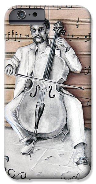 Graphite Drawing Pastels iPhone Cases - The Celloist NOLA iPhone Case by Steve Ellenburg