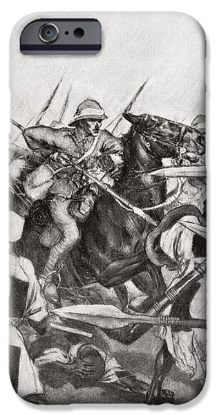 Lancer iPhone Cases - The Charge Of The 21st Lancers At Omdurman, Khartoum, Sudan During The Mahdist War In 1898.    From iPhone Case by Bridgeman Images