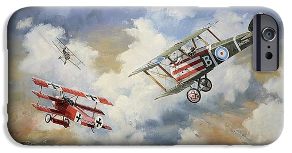 Recently Sold -  - Ww1 iPhone Cases - The chase is on iPhone Case by Colin Parker