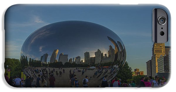Chicago Cubs iPhone Cases - The Chicago Bean in Millenium Park Color iPhone Case by David Haskett