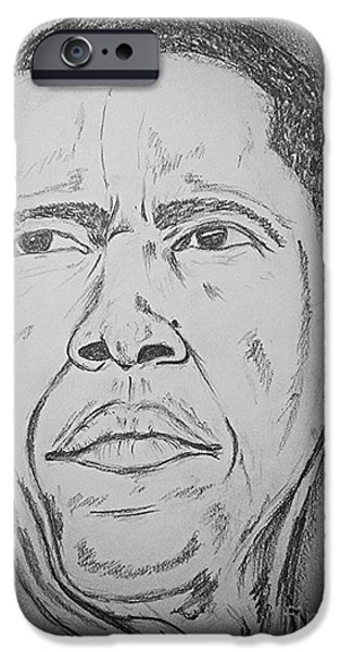 Barack Obama iPhone Cases - The Chief Obama iPhone Case by Collin A Clarke