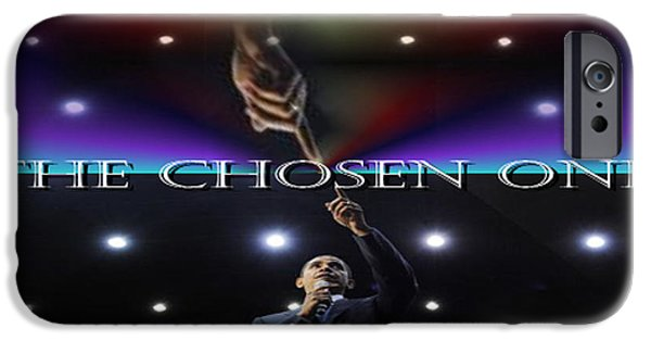 Obama iPhone Cases - The Chosen One iPhone Case by Debra MChelle
