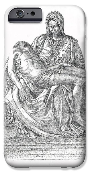 Son Of God Drawings iPhone Cases - The Christ iPhone Case by Richard Johns
