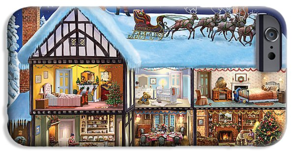 Inside-outside iPhone Cases - Christmas House iPhone Case by Steve Crisp