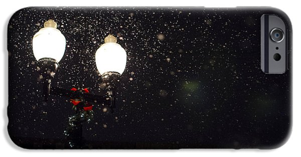 Snowy Night iPhone Cases - The Christmas Season iPhone Case by Mountain Dreams