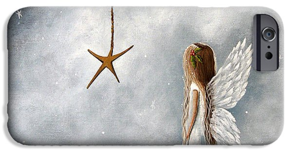 Cold iPhone Cases - The Christmas Star Original Artwork iPhone Case by Shawna Erback