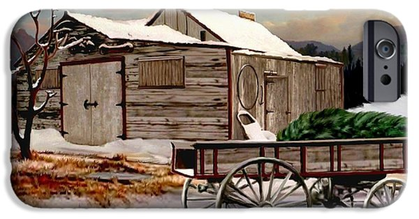 Shed iPhone Cases - The Christmas Tree iPhone Case by Ronald Chambers