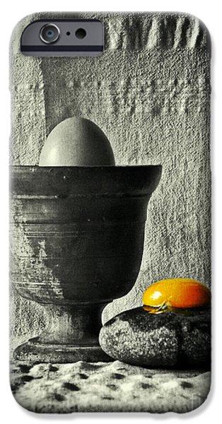 Surrealism Pyrography iPhone Cases - The Church iPhone Case by Binka Kirova