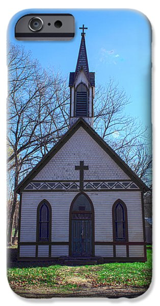 Billie Creek iPhone Cases - The Church at Billie Creek iPhone Case by Thomas Sellberg