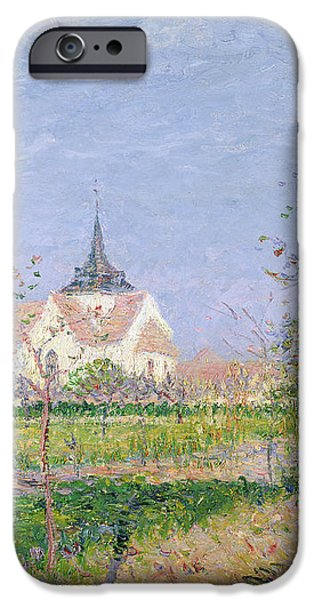 The Church at Vaudreuil iPhone Case by Gustave Loiseau