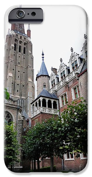Michael Angelo iPhone Cases - The Church of OUR LADY Brugge Belgium OLV Kerk iPhone Case by PainterArtist FIN
