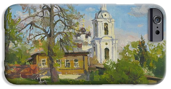 Lanscape iPhone Cases - The church Spasa za verhom iPhone Case by Victoria Kharchenko