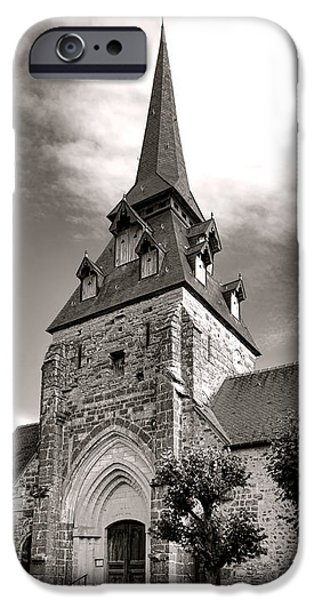The Church with the Dormers on the Steeple iPhone Case by Olivier Le Queinec