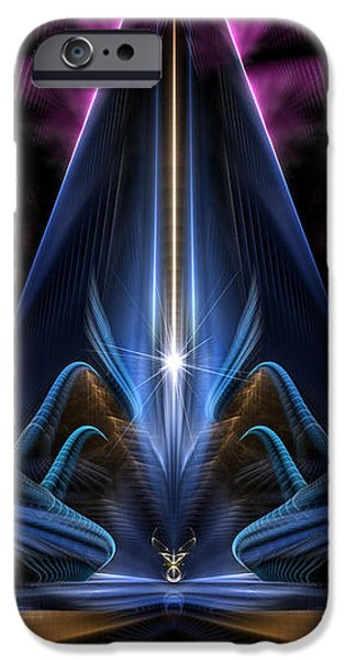 Justice League iPhone Cases - The Citadel Of Light Fractal Art iPhone Case by Rolando Burbon