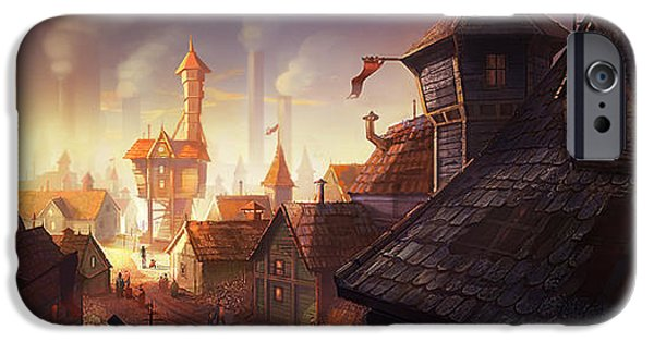 House iPhone Cases - The City iPhone Case by Kristina Vardazaryan