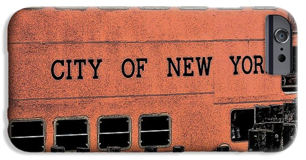 Alcatraz Mixed Media iPhone Cases - The City Of New York Staten Island Awaits You iPhone Case by Dave Lahn