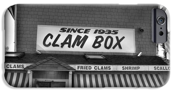 Local Attraction iPhone Cases - The Clam Box iPhone Case by Joann Vitali